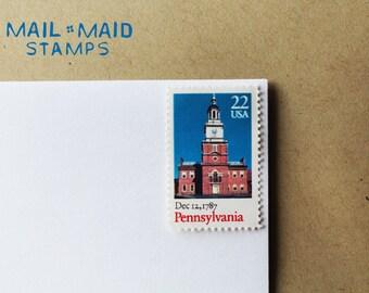 Vintage Pennsylvania Stamps (Set of 8)