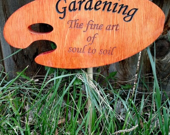 Soul to Soil garden sign