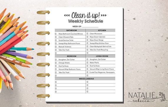 happy planner cleaning printable happy planner cleaning