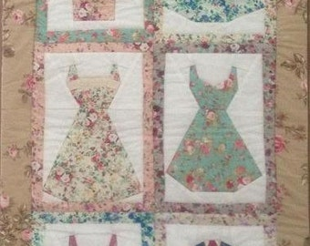 Patchwork pattern for a dresses quilt  - foundation pieced