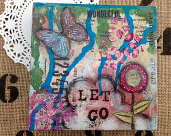 Let Go is a original piece of art. It is made on a deep sided 6x6 canvas