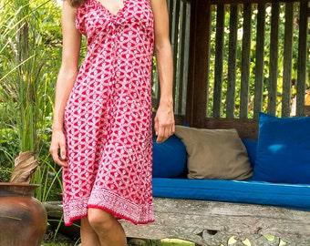 Putri Sundress, Beach Dress, Sundress, Summer Dress, Womens Sundress, Red Dress, 107-127
