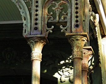 Photography on Canvas, Historic Building, New Orleans Iron Columns