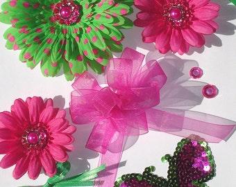 Inspiration Embellishment Kit Silk Flowers Bows Papercrafts Hair Bows Hats Scrapbooking Needlecrafts Home Decor Rhinestones Sequin Applique