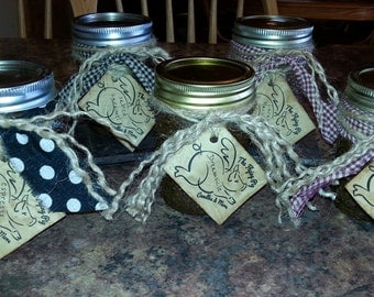 Soy Candle ~ 8 ounce ~ Mason Jar ~ Primitive ~ you choose scent