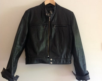 Vintage Black leather jacket 90s