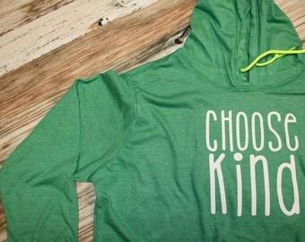 Choose Kind Hooded Long Sleeve T-Shirt