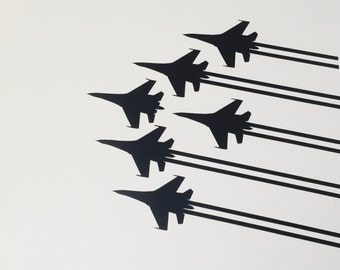 Jets in Formation: Corner Wall decal