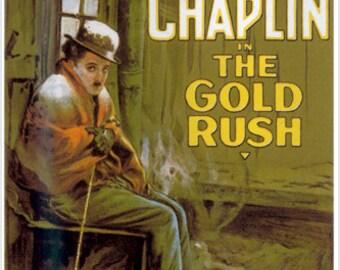 The Gold Rush Movie Poster Charlie Chaplin Hobo Ironic Poignant Funny 24x36