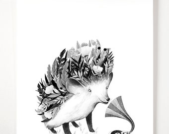 flourishing hedgehog - Art print