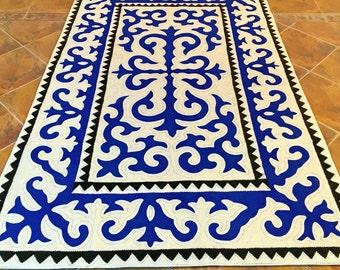 Cobalt Blue Rug Etsy