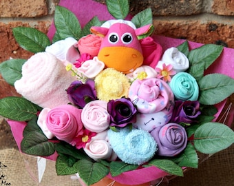 Flower Clothing Bouquet, Baby Clothing Gift, Baby Girl Clothes, Baby Shower Gift, Baby Gift, Baby Bouquet, Newborn Baby Gift, makeforgood