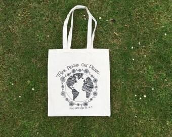 Cotton Tote Bag (ThinkAboutOurPlanet)