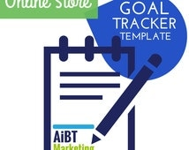 Online Store Goal Tracker Easy to Use Excel Template
