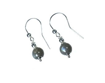Earrings Labradorite and Sterling Silver 396
