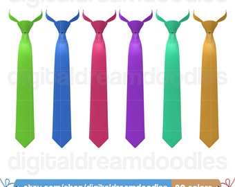 Men Tie Clipart, Neck Tie Clip Art, Office Attire Clipart, Tie Wardrobe Graphic, Suit Tie Scrapbook, Tuxedo Tie Picture, Digital Download