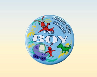 It's a Boy,  Cajun Baby Shower, Gender Reveal Baby Shower, Crawfish Baby Shower, Lobster Baby Shower, Baby Shower, Pin Back Button Badge
