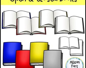 Opened & Closed Books Clip Art