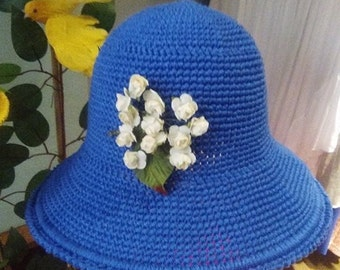 Hat of cotton, short wing, type casquetito of the 1970s