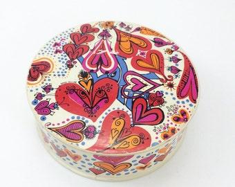 "Vintage Sandy Miller ""Love"" puzzle, vintage thingie puzzle, retro puzzle, circular jigsaw"