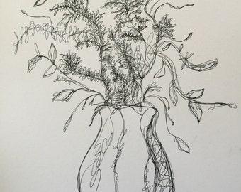 Minimalistic plant drawing