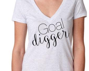 Goal Digger Women's V-Neck Tee