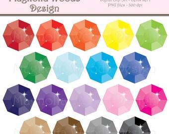Gem Clip Art, Rhinestone Clip Art, Jewel Clip Art, Jewel PNG, Digital Gems, Small Commercial Clip Art, Jewels Clip Art