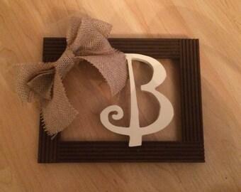 B Initial Decorative Frame