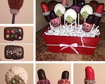 Dozen Spa Day MAC MakeUp OPI Nail Polish Cake Pop Boquet