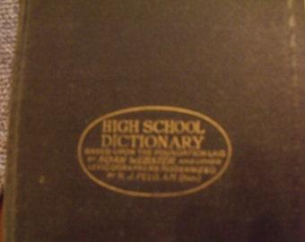 1930's Universal High School Dictionary