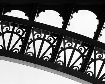 black and white photography, Eiffel Tower, Paris France, French architecture, Paris wall art, Paris home decor, fine art photography, 8x10