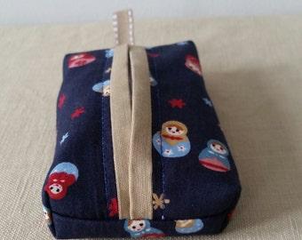 Handbag tissue pouch - Russian dolls