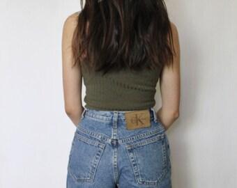 SALE Vintage High Waist Denim Shorts 22.5 | Calvin Klein Denim Shorts | Denim Shorts