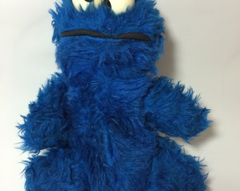 "Vintage Sesame Street 8"" Cookie Monster by Knickerbocker (1970's) 