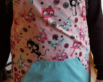 ome made cute kitty apron