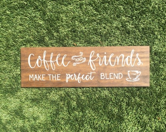 Coffee and Friends wall hanging