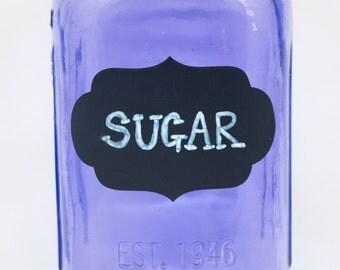 8 Chalkboard Labels, 3x2, Large Stickers, Chalkboard Labels with Pen,Chalkboard Stickers,Mason Jar Labels,Storage Labels,Black Labels,Fancy