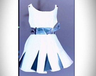 Kids dress suit With transformable skirt Kids bridesmaid made in Italy Styled and made by Nancy Barbieri