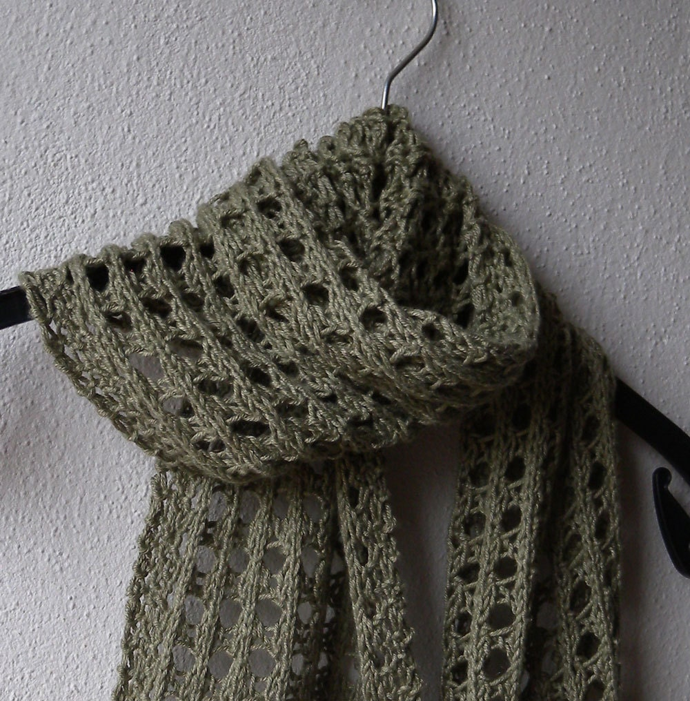 Summer Scarf Knitting Pattern, lace scarf, easy pattern, aran yarn, fashion a...