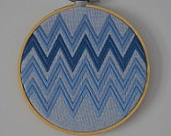 Embroidered zigzags