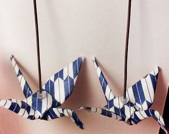 Blue and White Fletched Cranes