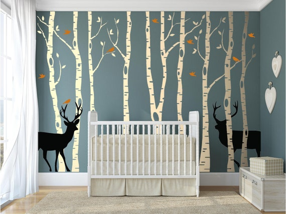 Birch Tree Wall Decal Forest by AbakDesign