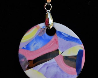 sunset colors pendent