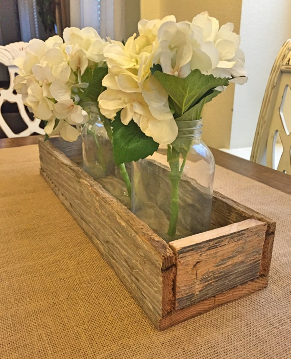 Reclaimed wood centerpiece by fawnlilymarket on etsy