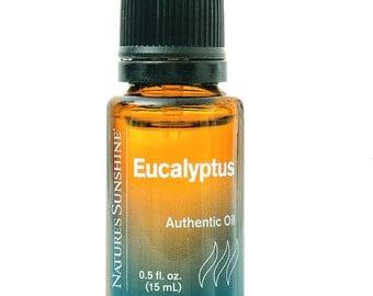 100% pure, EUCALYPTUS, Organically grown, Season change, Cool, Refreshing, Stimulating, Invigorating, Body, Nature's Sunshine