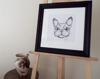 Mr Frenchie - Original Artwork Framed