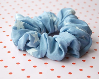 Silk and cotton Scrunchies ponytail hair band scrunchie handmade hair tie