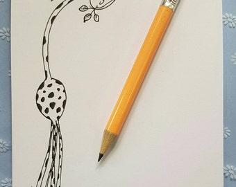 Giraffe a6 notepad, giraffe notepad, giraffes