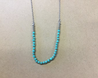 Turquoise and silver necklace