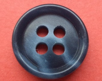 12 dark blue buttons 15mm (575) button blue